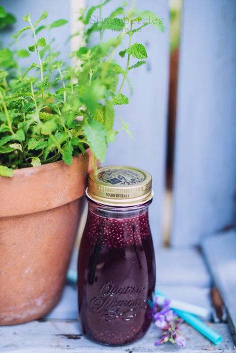 Orzeźwiający napój z nasionami chia