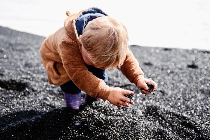 Islandia - czarna plaża