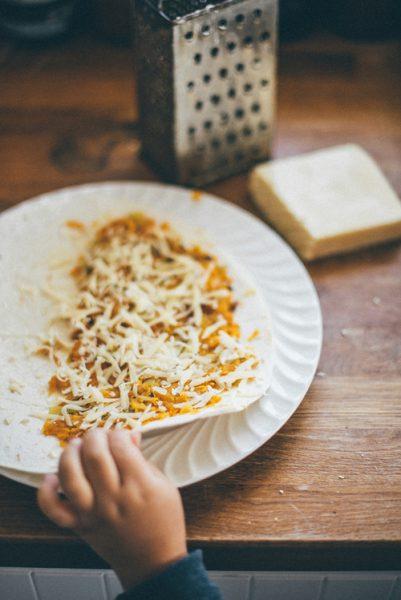 quesadille z patelni