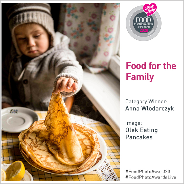 Moja fotografia zwycięzcą w kategorii Food for the family w międzynarodowym konkursie fotografii kulinarnej